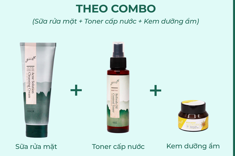 Combo các bước dưỡng ẩm cho da nam bị khô
